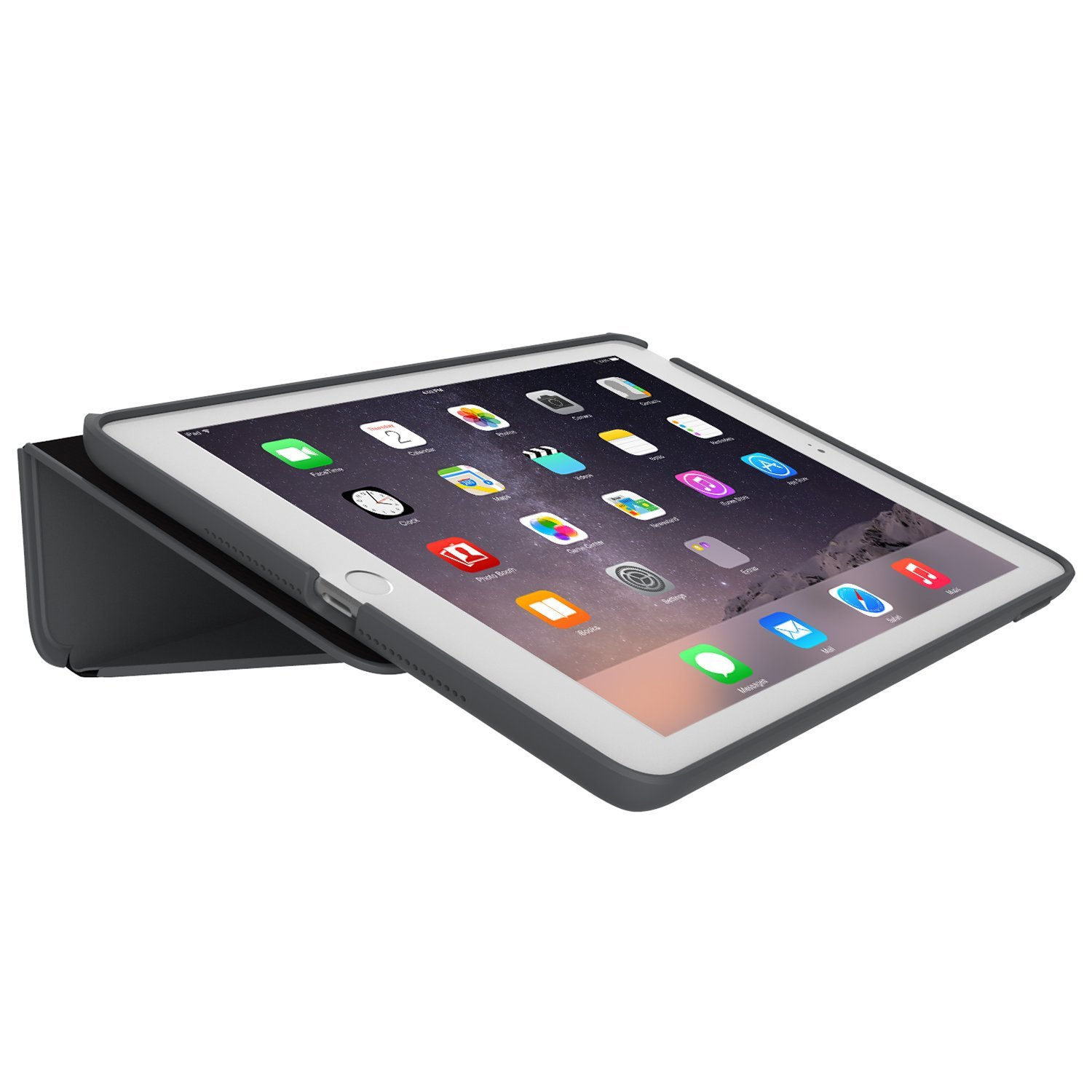 best cheap 9f148 07ed0 Speck DuraFolio Case and Viewing Stand for Apple iPad Air 2 - Black/Slate  Grey