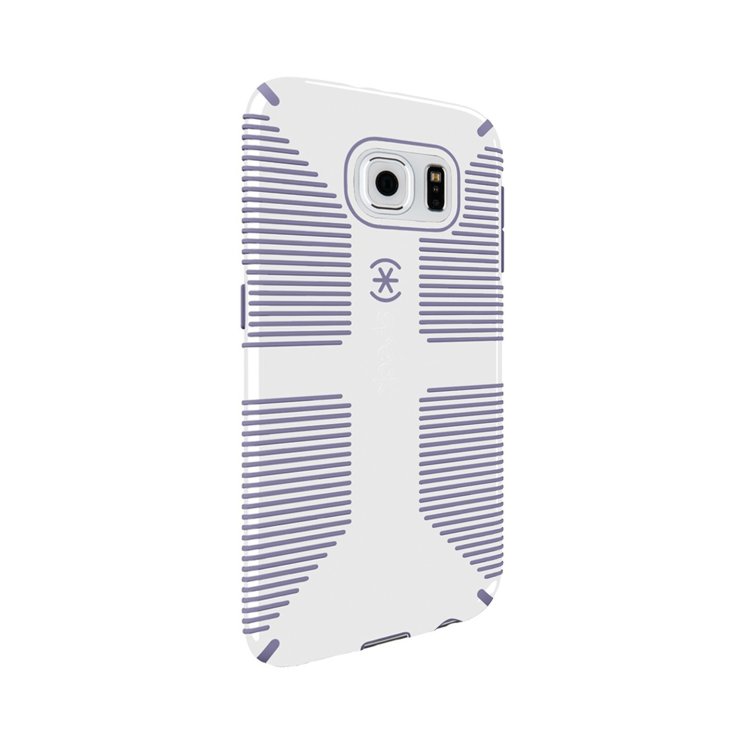 Speck CandyShell Grip Case for Samsung Galaxy S6 - White/Heather Purple