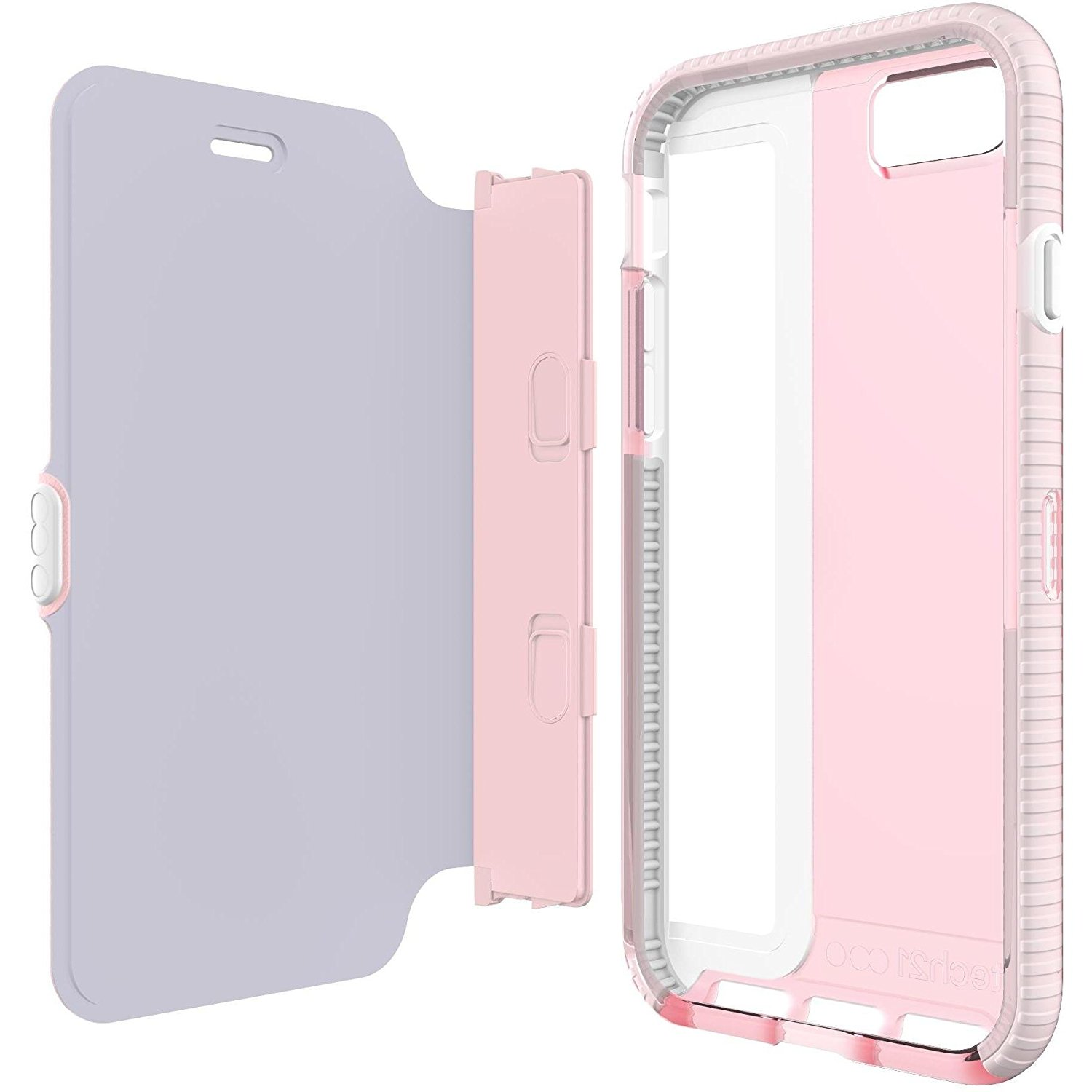 size 40 9f89c d78c0 Tech21 Evo Wallet Case for iPhone 8, iPhone 7 - Light Rose Pink