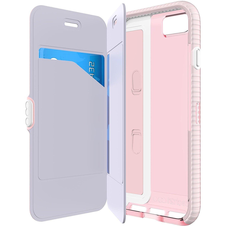 tech21 evo wallet case for iphone 8 iphone 7 light rose pink. Black Bedroom Furniture Sets. Home Design Ideas