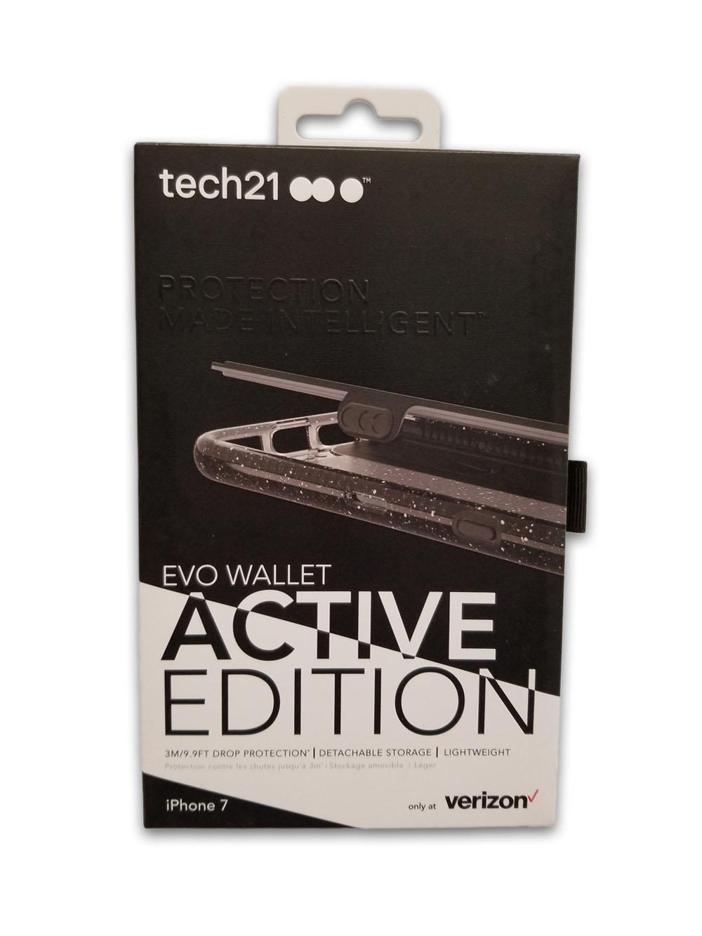 Tech21 Evo Active Edition Wallet Case for iPhone SE2/8/7/6/6s - Smokey/Black