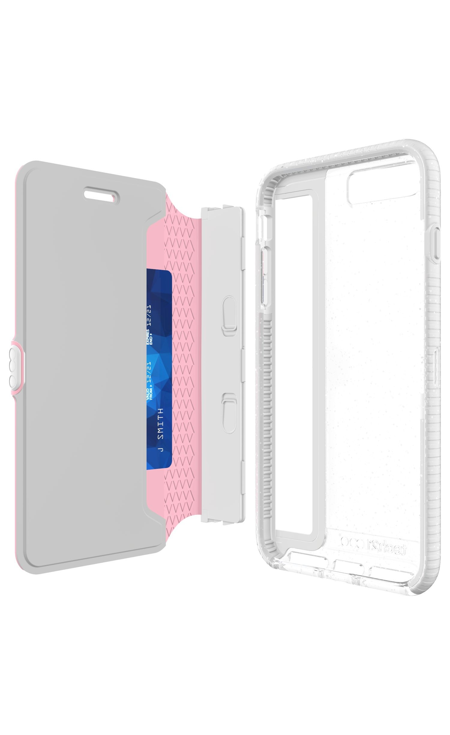 new arrival 06806 893b5 Tech21 Evo Active Edition Wallet Case for iPhone 8 Plus, 7 Plus - Pink