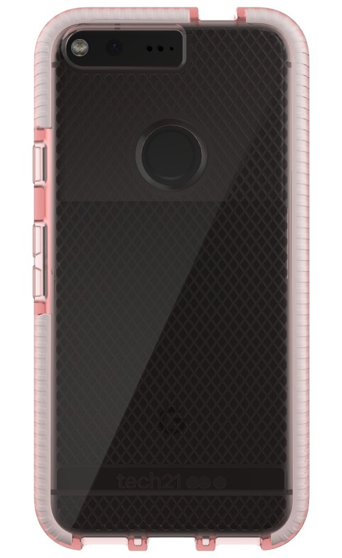 Tech21 Evo Check FlexShock Case for Google Pixel - Rose Tint/White