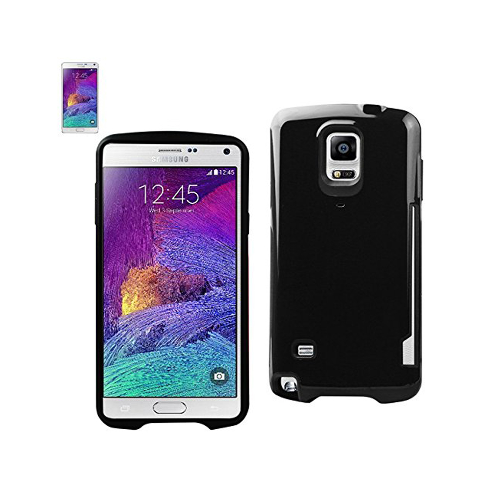 Reiko Candy Shield Case With Card Holder for Samsung Galaxy Note 4 - Black