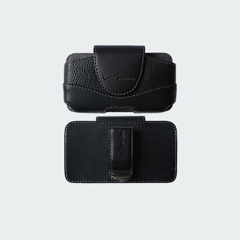 Verizon Universal Leather Pouch with Rotating Clip for Convoy 4 and etc - Black