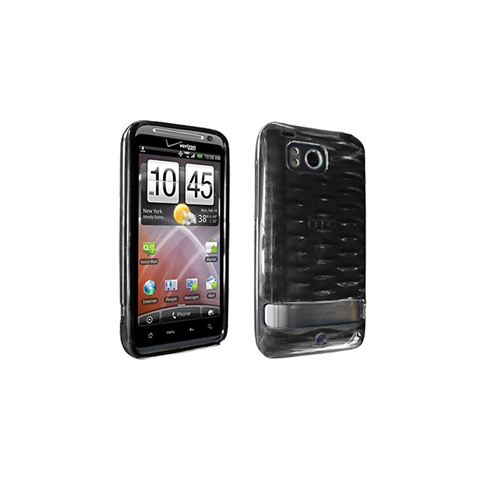 Verizon Snap on High Gloss Silicone Case for HTC Thunderbolt 6400 - Black