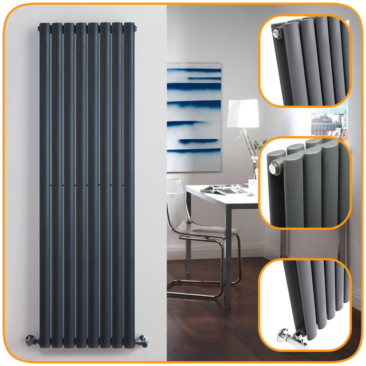 Anthracite Vertical Designer Radiators