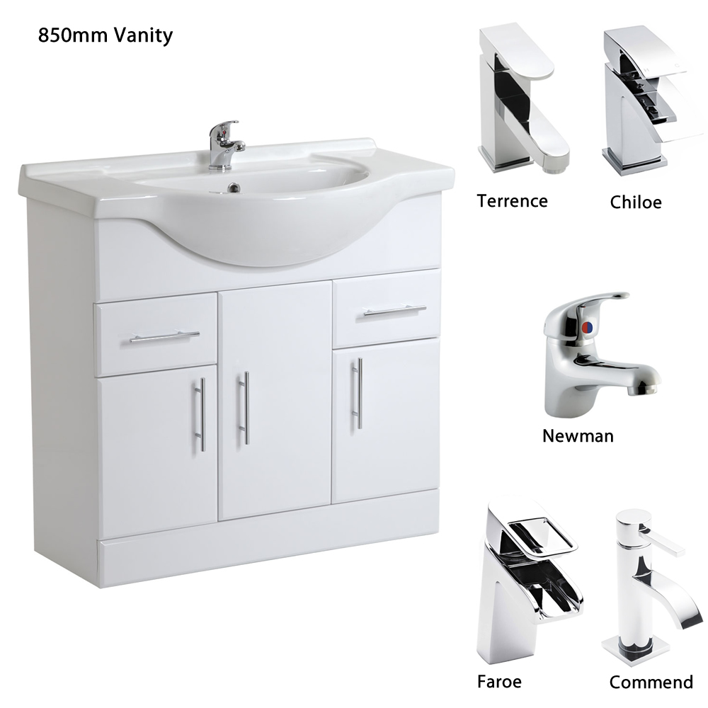 Ebay Used Bathroom Vanity: White Bathroom Vanity Units Sink Basin Storage Cabinet All