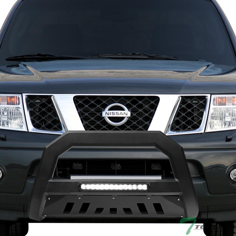 Details About Topline For 2005 2019 Nissan Frontier Xterra Av Aluminum Led Bull Bar Matte Blk