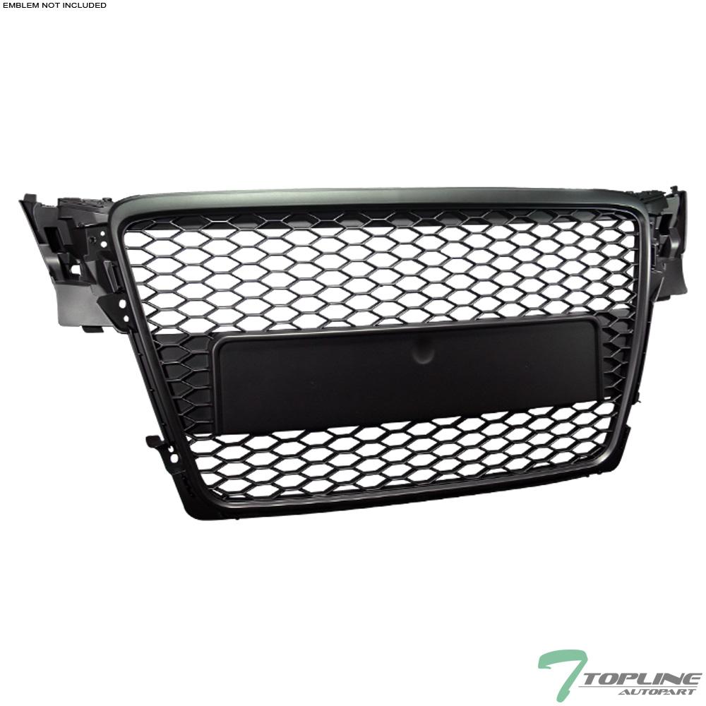 blk honeycomb mesh front hood bumper grill grille guard. Black Bedroom Furniture Sets. Home Design Ideas