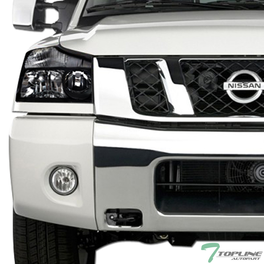 JDM Black Headlights Parking Turn Signal Lamps NB Fits 04-15 Nissan Titan//Armada