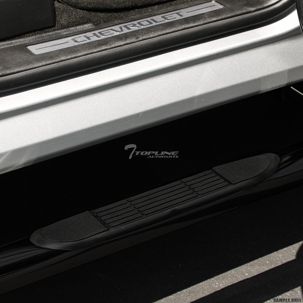 Topline Autopart 4 Oval Black Side Step Nerf Bars Rail Running Boards For 04-08 F150 Regular Standard Cab