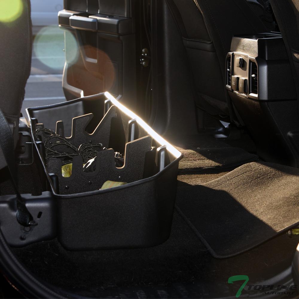 F150 Under Seat Storage >> Details About Topline For 2015 2018 Ford F150 F250 Supercrew Underseat Storage Gear Box Blk