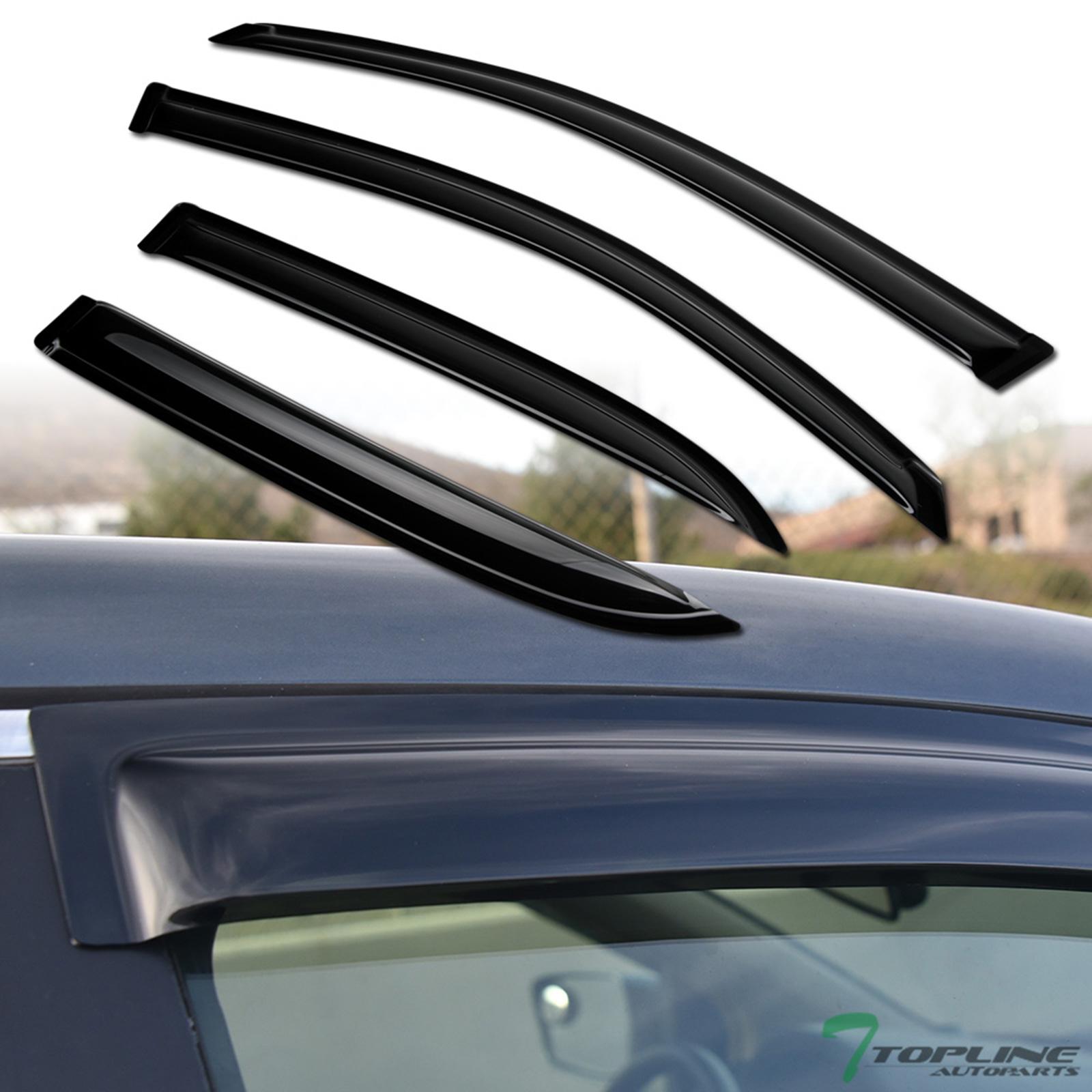 Topline For 2005-2012 Nissan Pathfinder Sun Rain Guard Vent Shade Window Visors