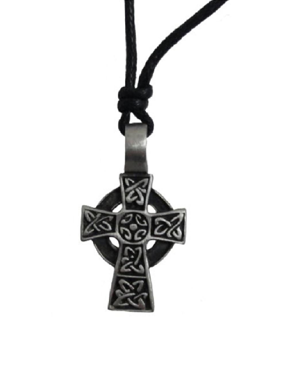 new celtic cross necklace small pewter 34 adjustable. Black Bedroom Furniture Sets. Home Design Ideas