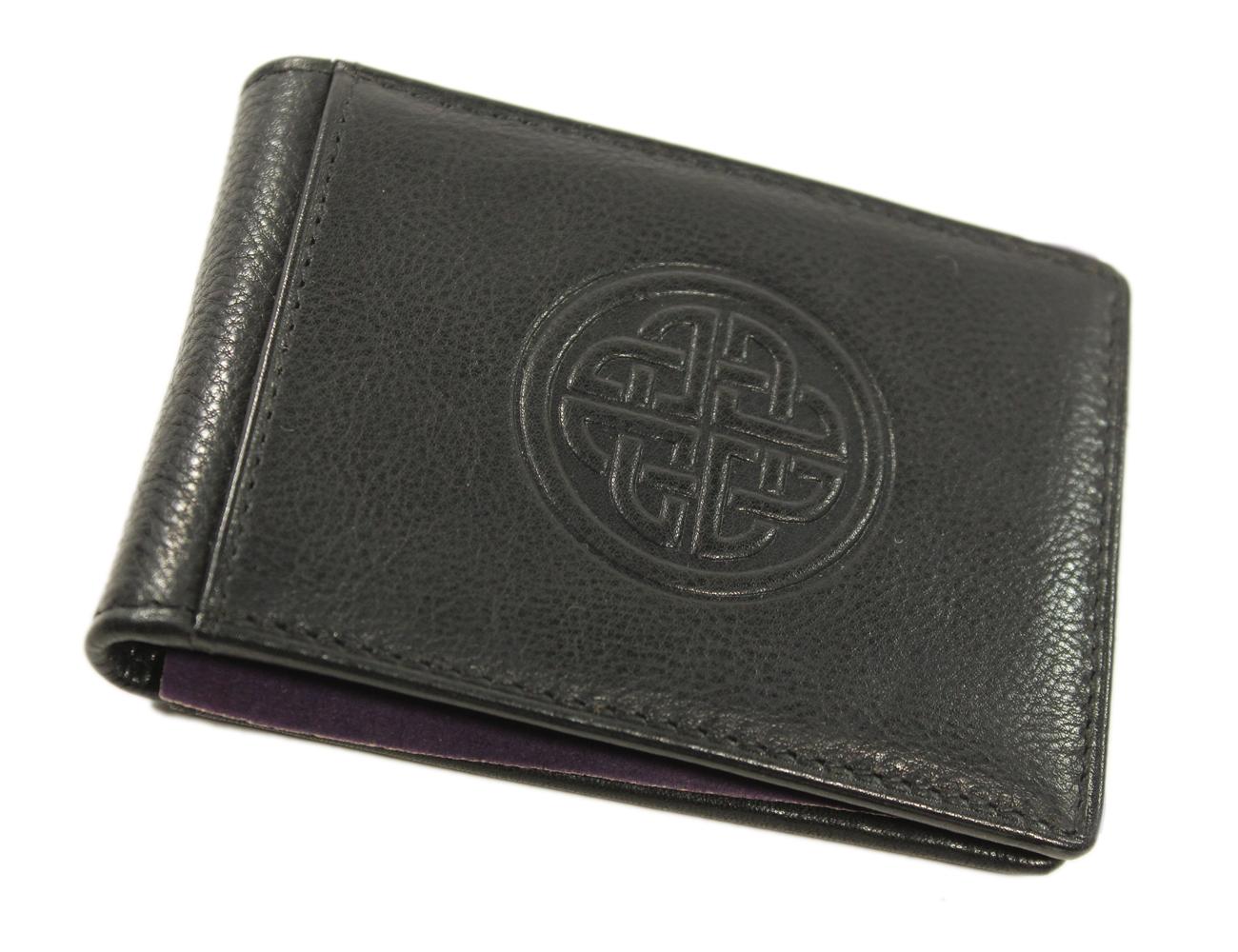 Leather Magnetic MONEY CLIP Wallet Fire Dept//Flag//Eagle//12 GA Shell//Celtic Cross