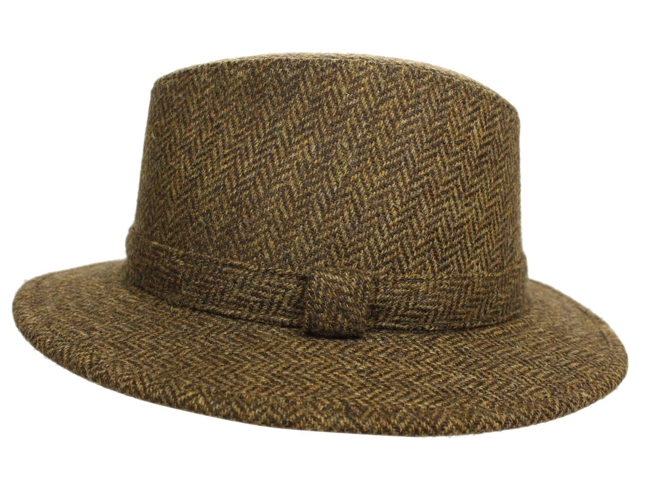 87c892311 Details about New Fedora Hat for Men 100% Wool Black Made in Ireland John  Hanly