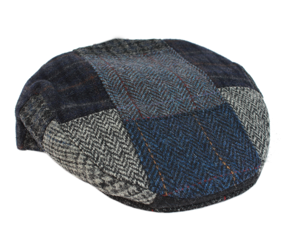 Irish Tweed Cap Patchwork Blue   Grey As Shown 100% Wool Made in Ireland  SKU  Patch-C S 0598c8582f96