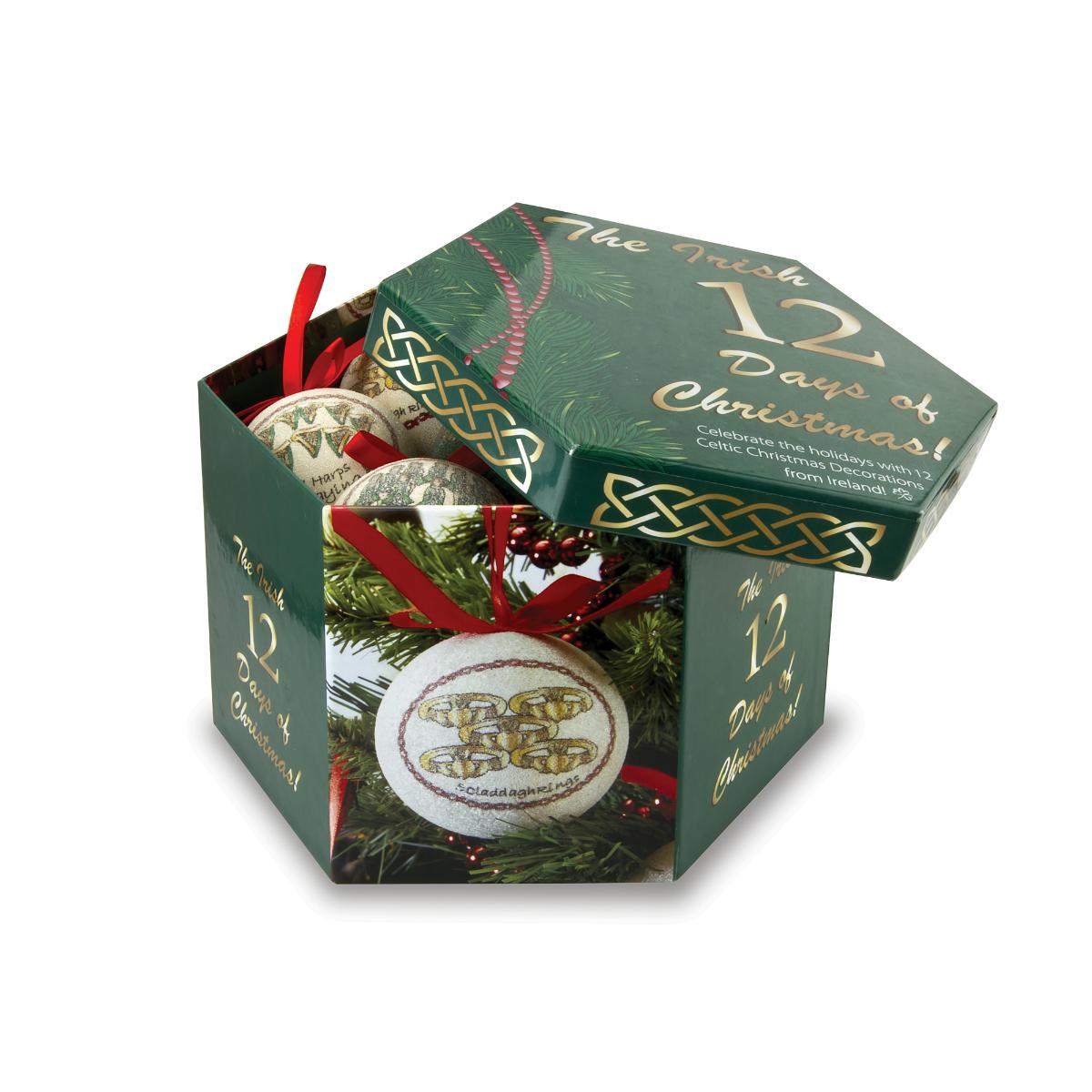 Days of christmas ornament set keepsake box irish