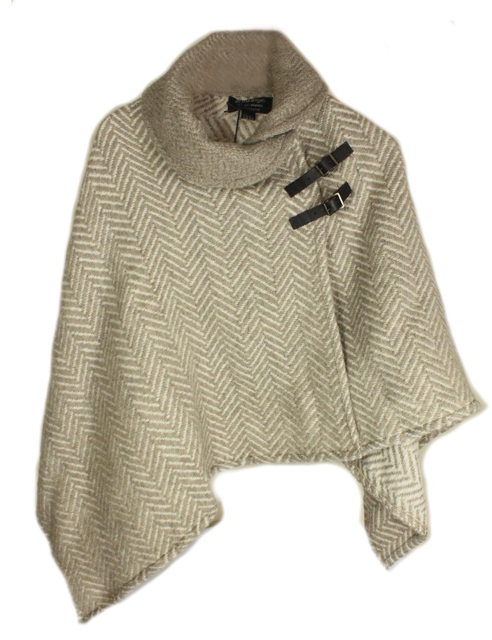Irish Knit Poncho Herringbone Lambswool from Ireland | eBay