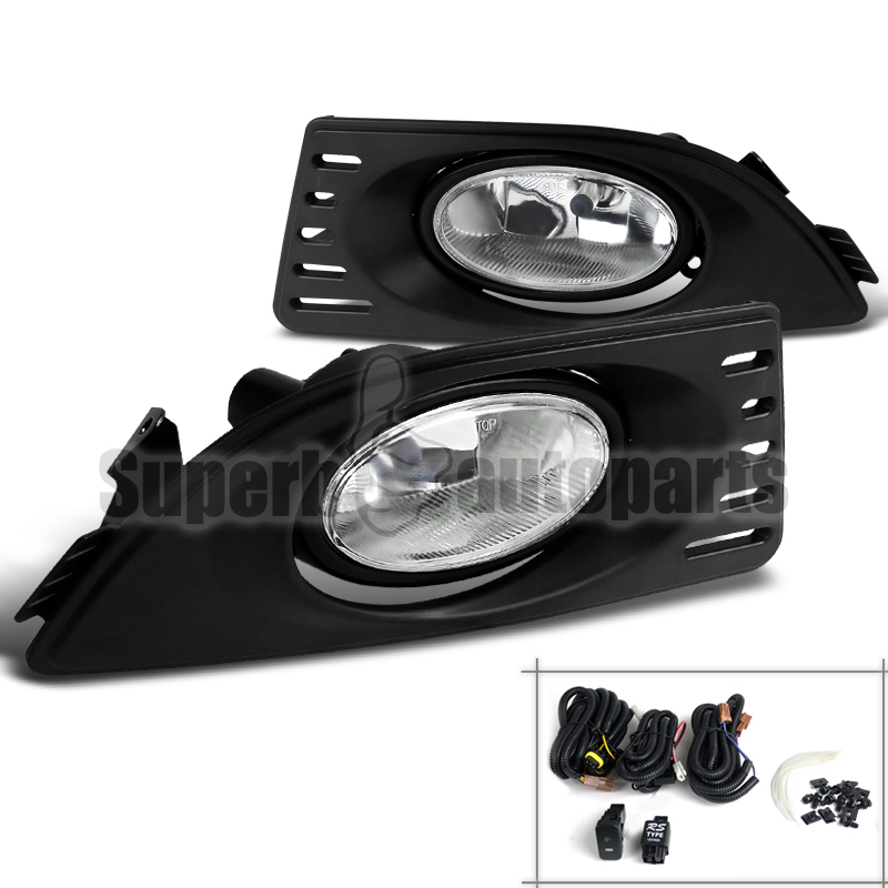 2005-2007 Acura RSX Driving Fog Lights Lamps W/Switch+Wire