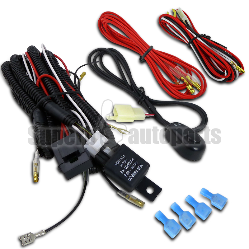 wiring harness relay switch kit for led spot work lights drl fog lamps