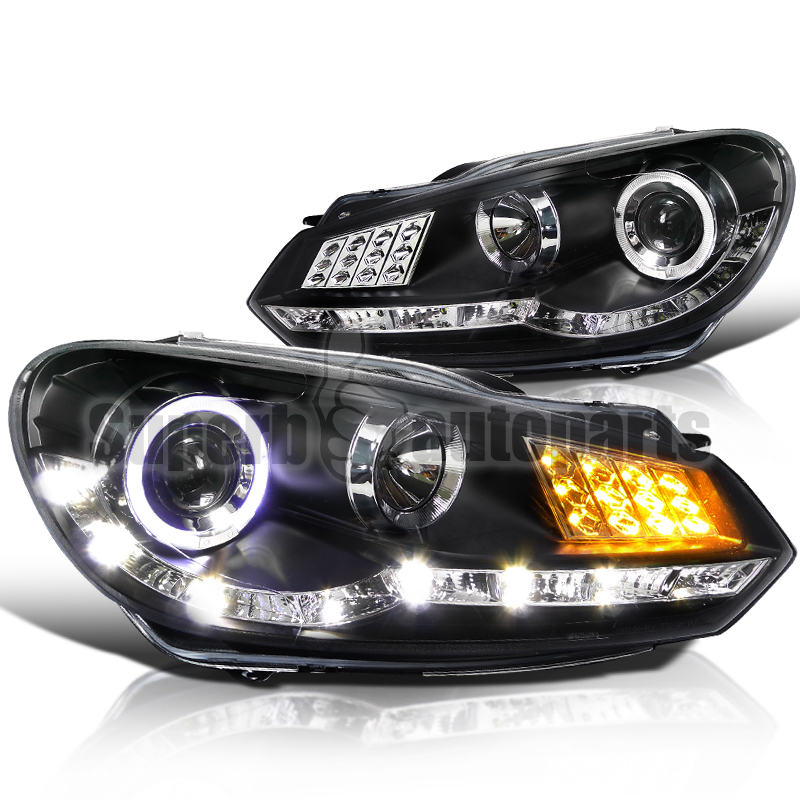 2021 Vw Golf R Rendering Is All About The Headlights: For 2009-2012 Golf GTI R8 Style SMD LED Signal Halo