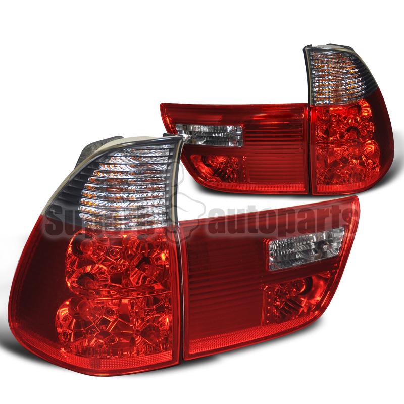 2000 2005 bmw x5 e53 crystal tail lights brake lamp red. Black Bedroom Furniture Sets. Home Design Ideas