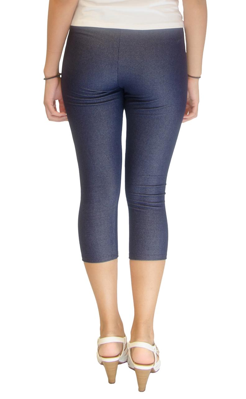 c2d742420bd04 Vivian s Fashions Capri Leggings - Knit Denim (Misses and Misses ...