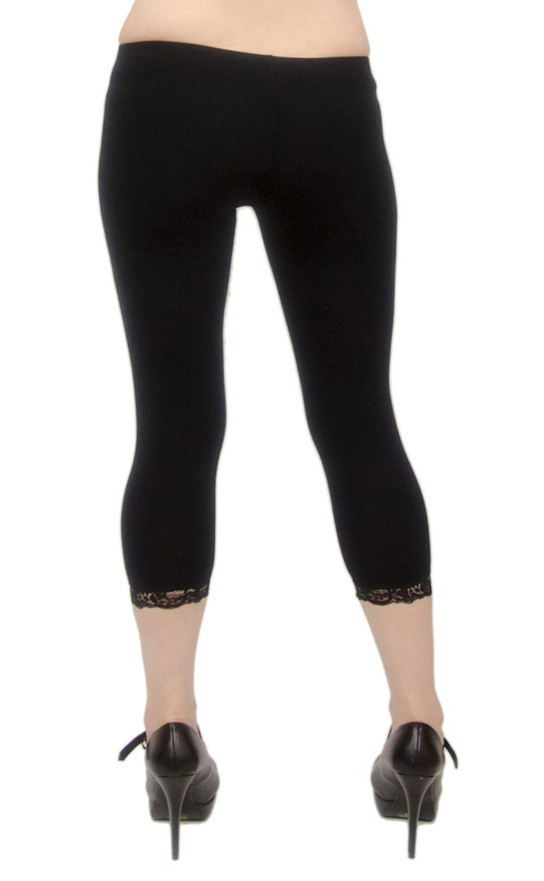 Vivian-039-s-Fashions-Capri-Leggings-Cotton-Lace-Misses-and-Misses-Plus-Sizes thumbnail 16