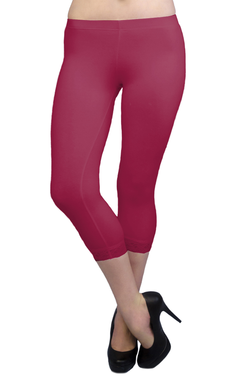 Vivian-039-s-Fashions-Capri-Leggings-Cotton-Lace-Misses-and-Misses-Plus-Sizes thumbnail 24
