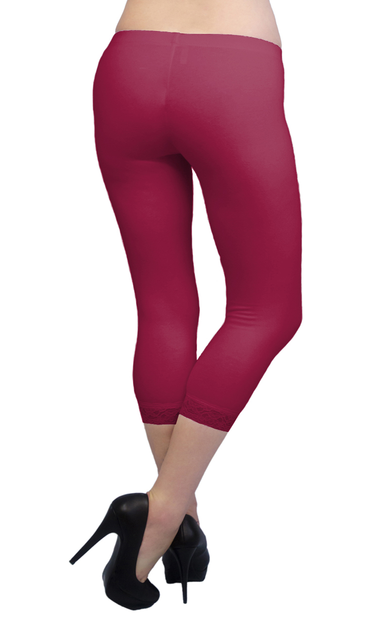 Vivian-039-s-Fashions-Capri-Leggings-Cotton-Lace-Misses-and-Misses-Plus-Sizes thumbnail 25