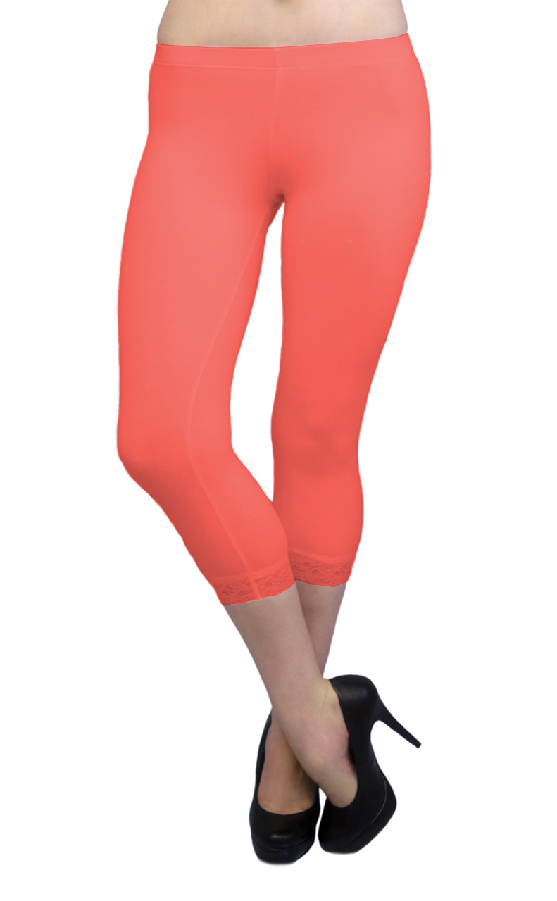 Vivian-039-s-Fashions-Capri-Leggings-Cotton-Lace-Misses-and-Misses-Plus-Sizes thumbnail 32