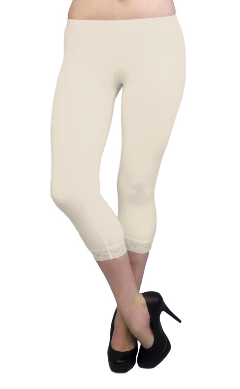 Vivian-039-s-Fashions-Capri-Leggings-Cotton-Lace-Misses-and-Misses-Plus-Sizes thumbnail 45