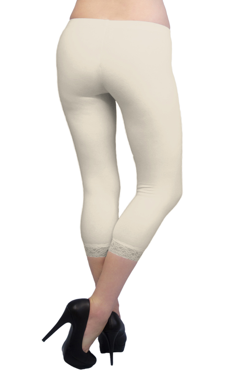 Vivian-039-s-Fashions-Capri-Leggings-Cotton-Lace-Misses-and-Misses-Plus-Sizes thumbnail 46