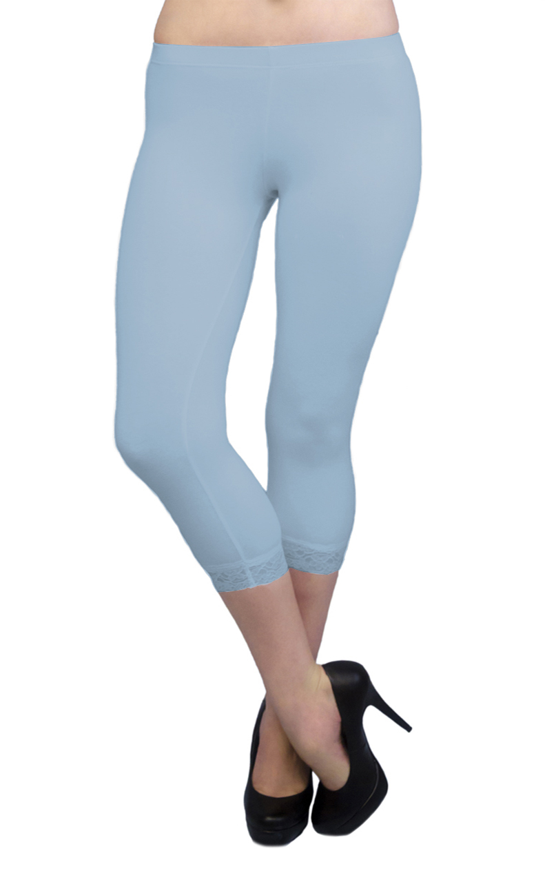 Vivian-039-s-Fashions-Capri-Leggings-Cotton-Lace-Misses-and-Misses-Plus-Sizes thumbnail 49