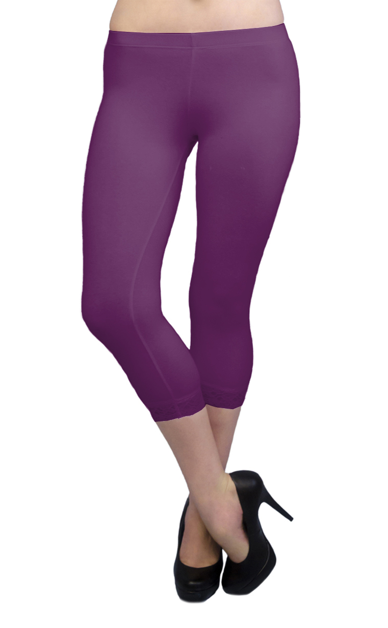 Vivian-039-s-Fashions-Capri-Leggings-Cotton-Lace-Misses-and-Misses-Plus-Sizes thumbnail 65