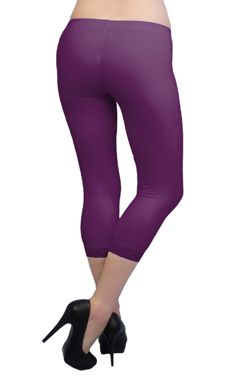 Vivian-039-s-Fashions-Capri-Leggings-Cotton-Lace-Misses-and-Misses-Plus-Sizes thumbnail 66