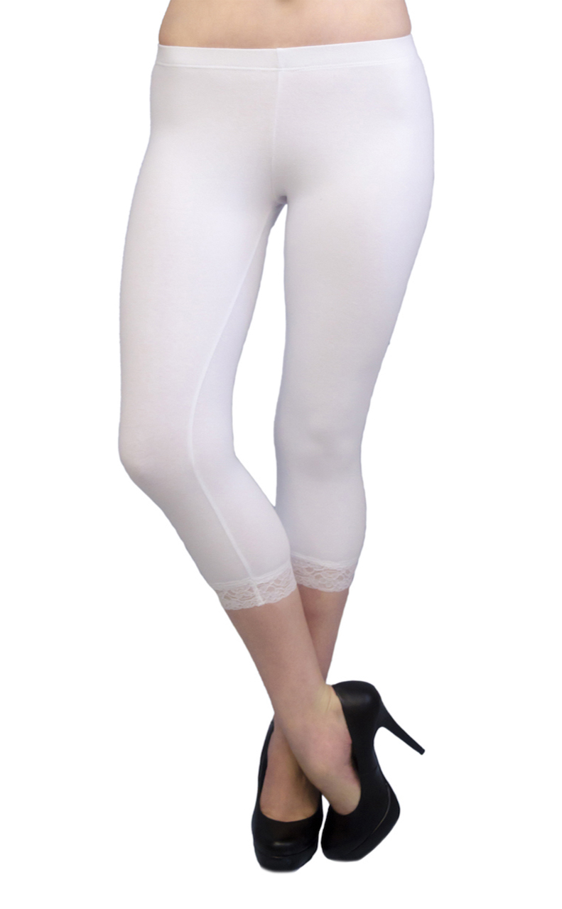 Vivian-039-s-Fashions-Capri-Leggings-Cotton-Lace-Misses-and-Misses-Plus-Sizes thumbnail 81