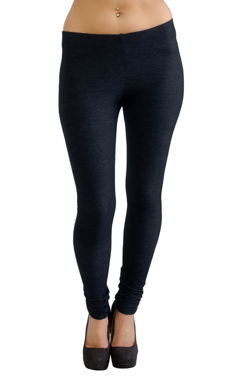 54b09b66a37 Vivian s Fashions Extra Long Leggings - Knit Denim (Misses Misses ...