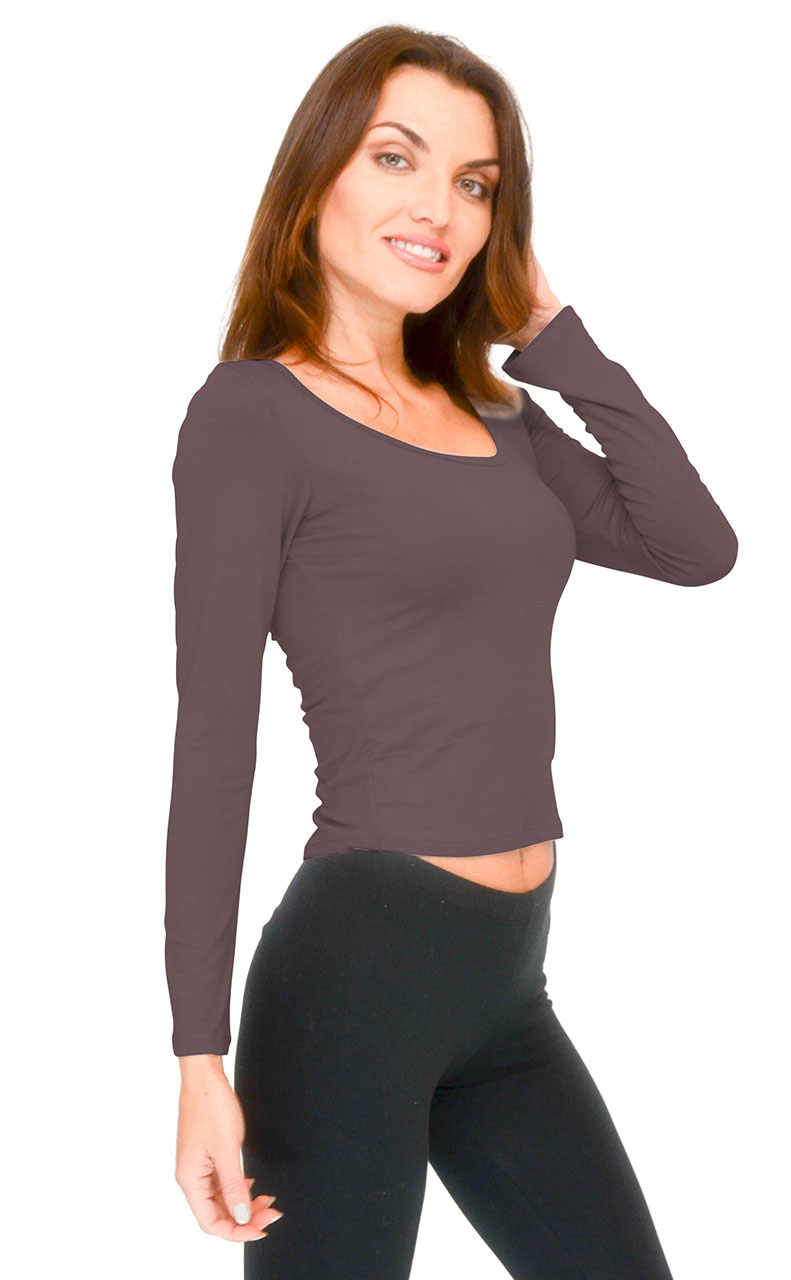 Vivian-039-s-Fashions-Top-Soft-Crop-Top-Long-Sleeve thumbnail 6