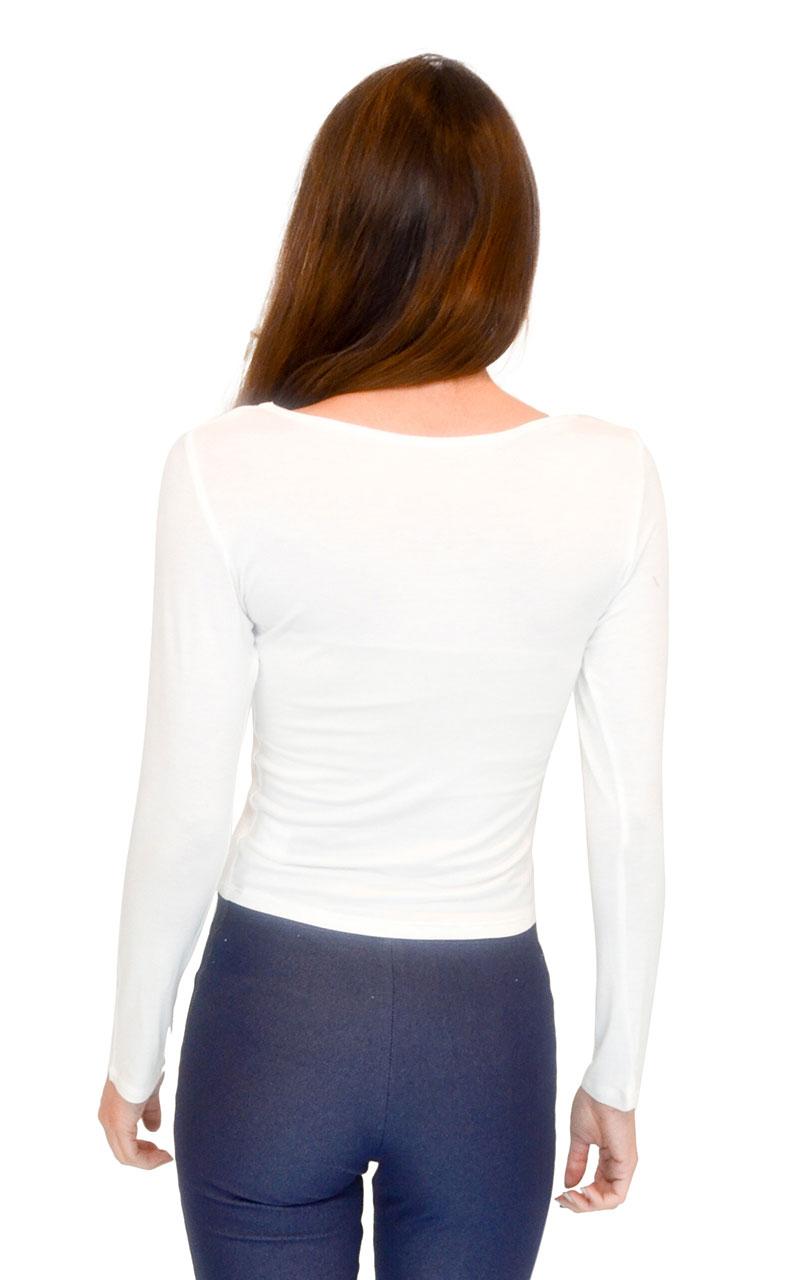 Vivian-039-s-Fashions-Top-Soft-Crop-Top-Long-Sleeve thumbnail 12