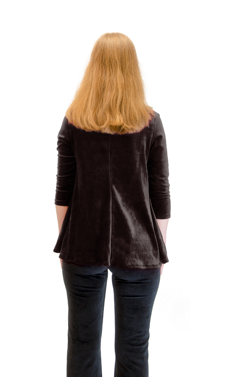 Vivian-039-s-Fashions-Top-Velour-V-Neck-3-4-Sleeve-Top thumbnail 21
