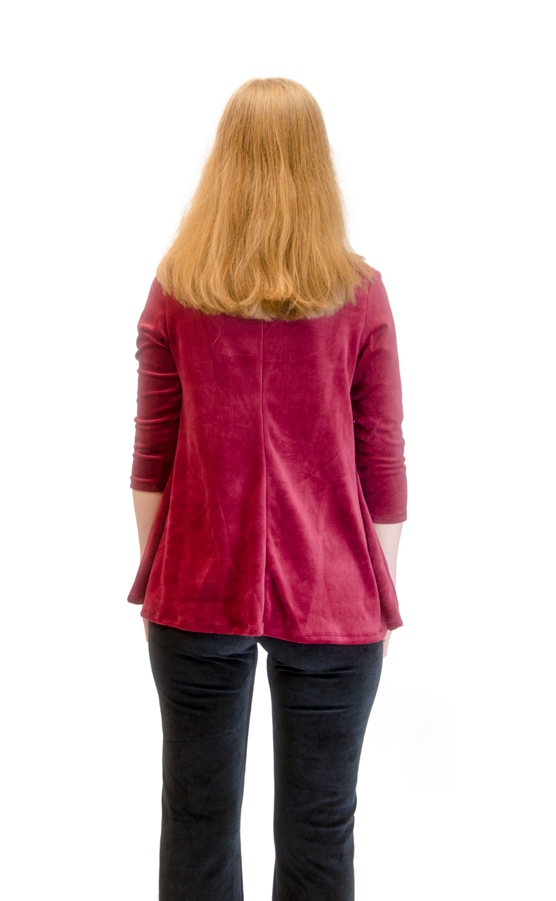 Vivian-039-s-Fashions-Top-Velour-V-Neck-3-4-Sleeve-Top thumbnail 26