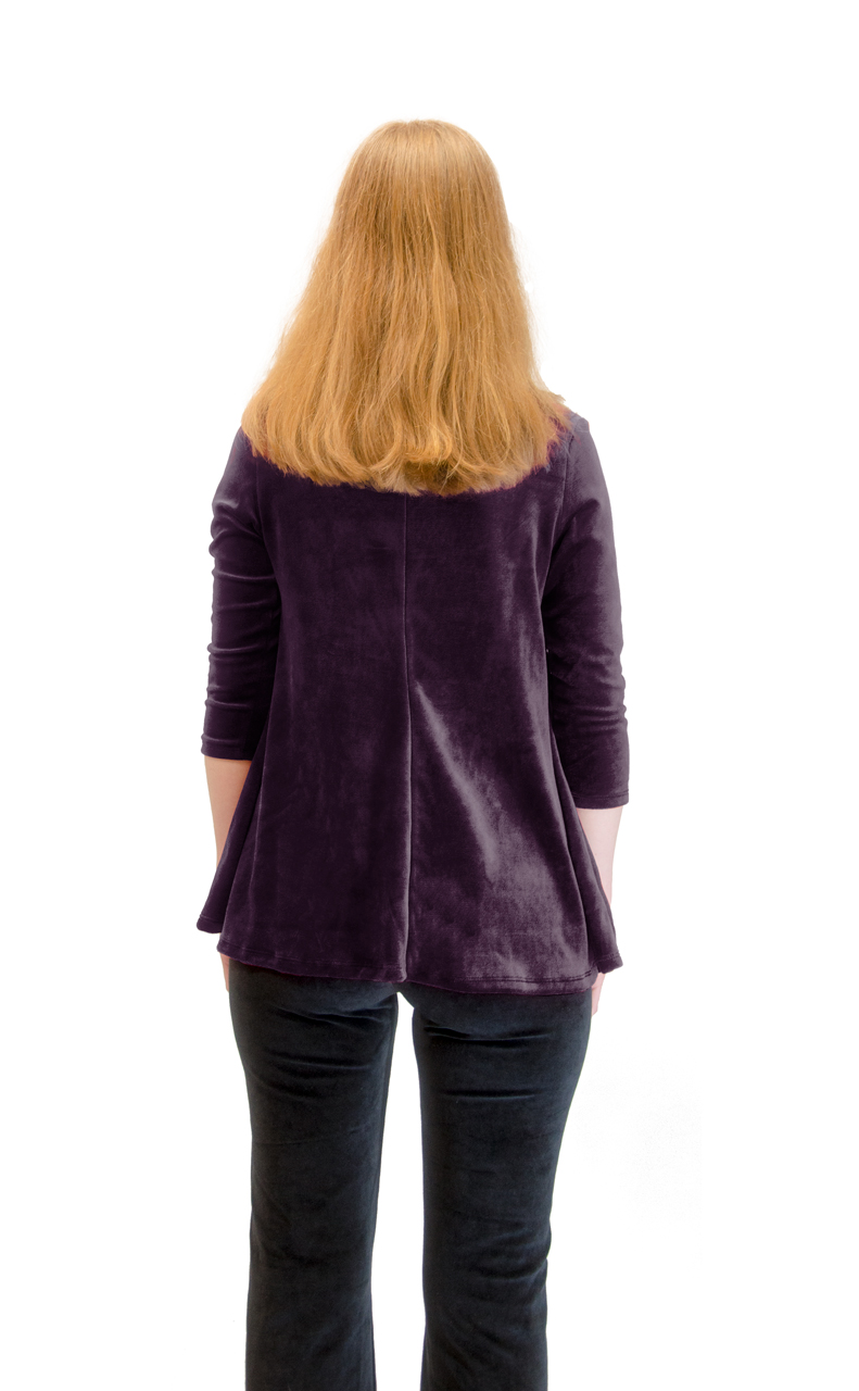 Vivian-039-s-Fashions-Top-Velour-V-Neck-3-4-Sleeve-Top thumbnail 36