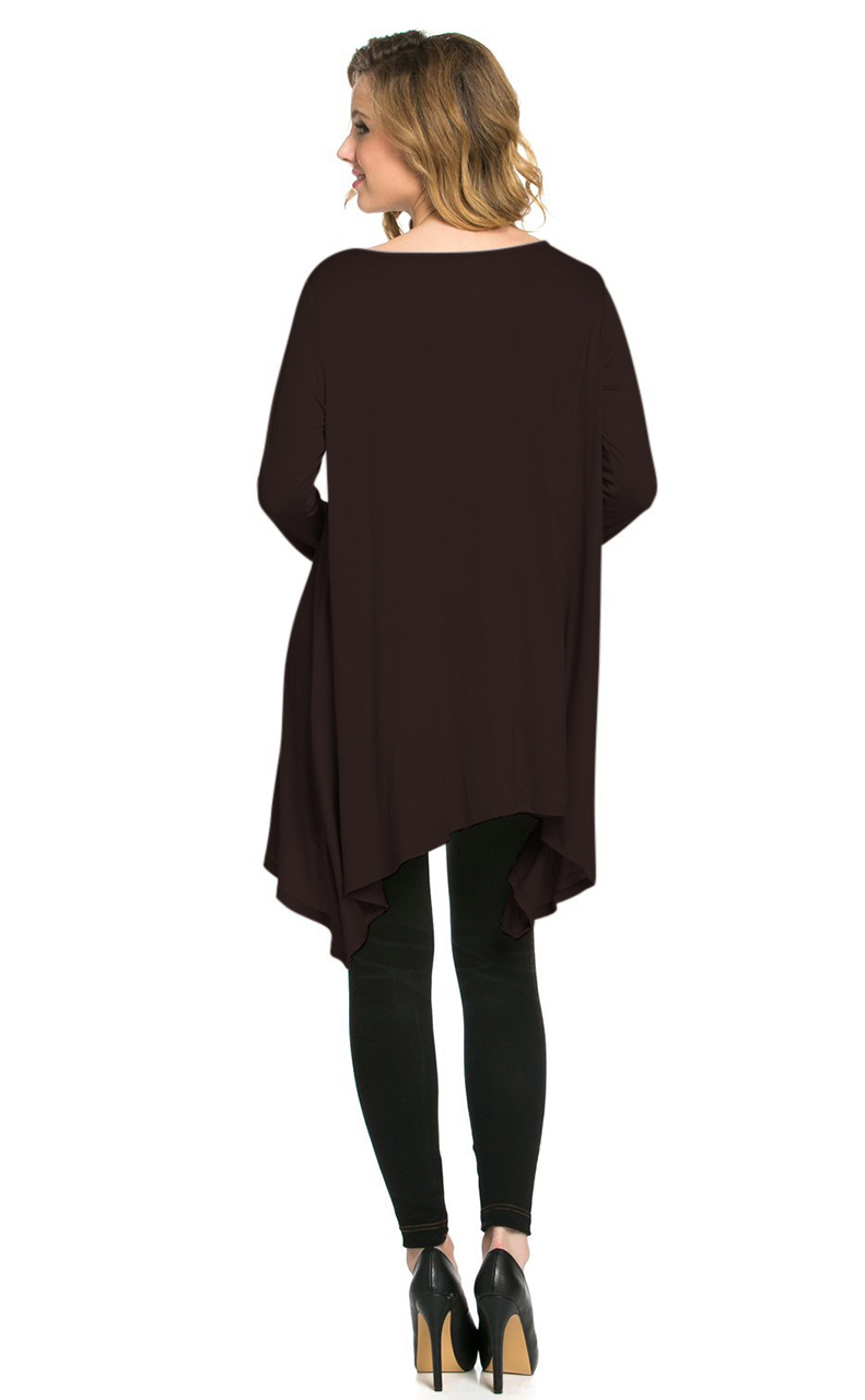 Vivian-039-s-Fashions-Top-Hankerchief-Hem-Long-Sleeve thumbnail 14