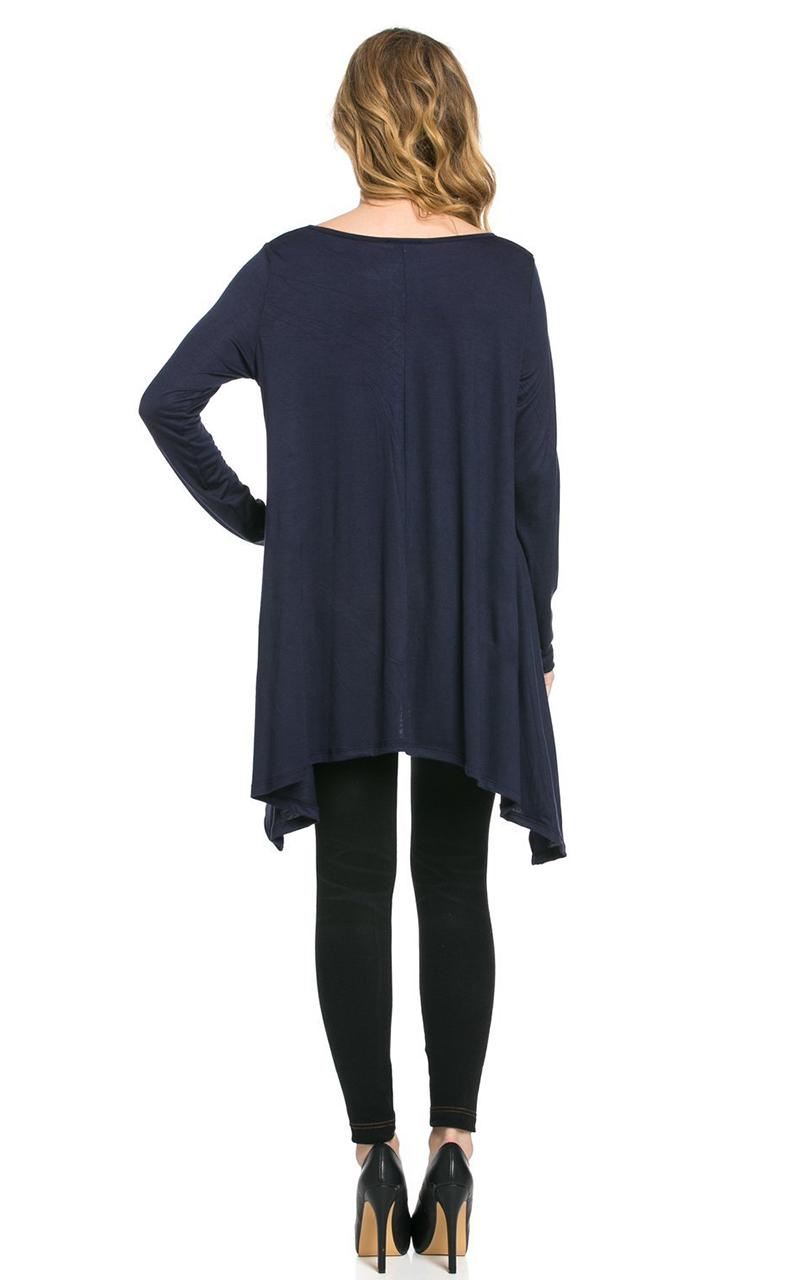 Vivian-039-s-Fashions-Top-Hankerchief-Hem-Long-Sleeve thumbnail 26
