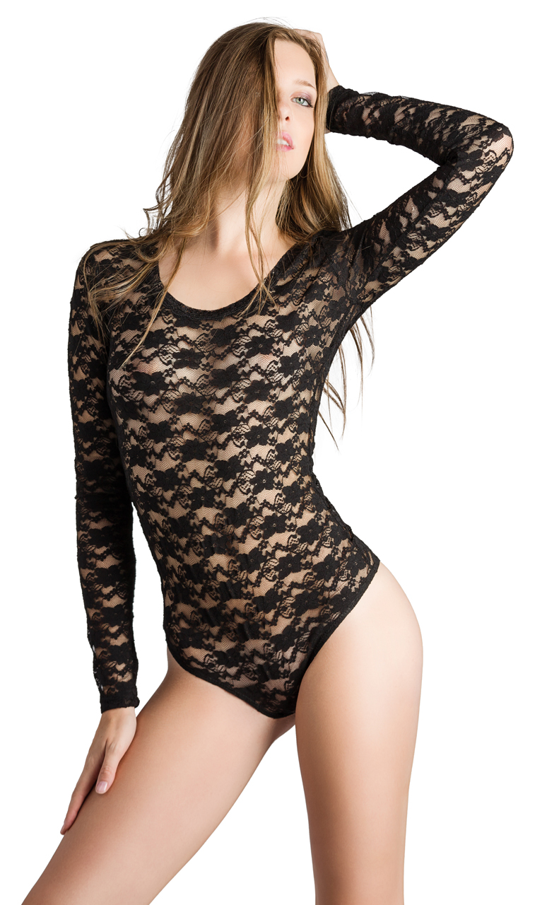 d063dd318c Vivian-039-s-Fashions-Top-Bodysuit-Lace-Long-