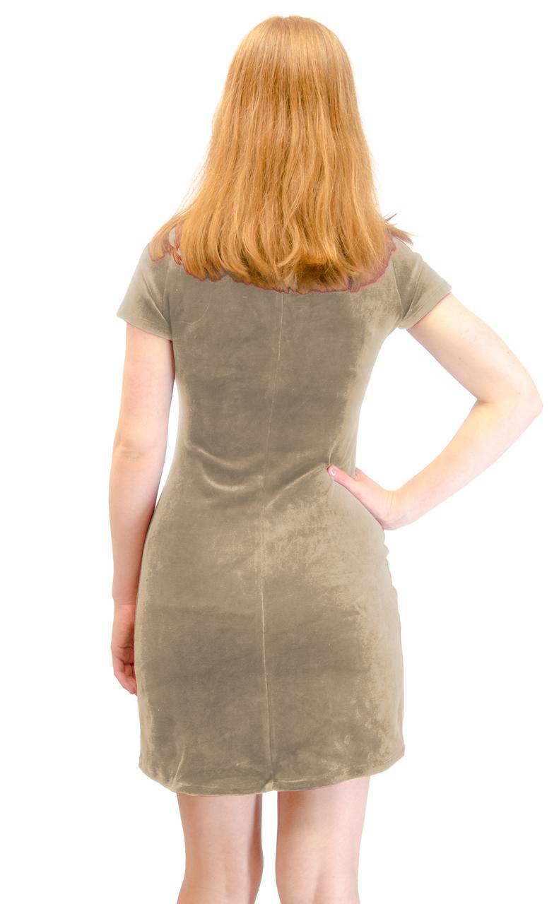 Vivian-039-s-Fashions-Dress-Velour-Short-Sleeve-Short-Dress thumbnail 9