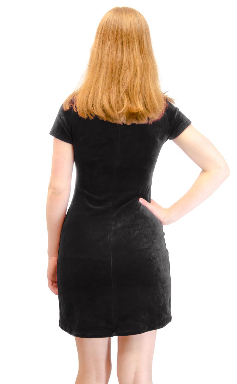 Vivian-039-s-Fashions-Dress-Velour-Short-Sleeve-Short-Dress thumbnail 12